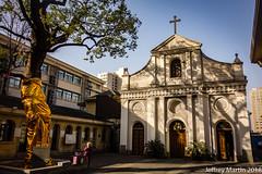 (Dubai Jeffrey) Tags: china hangzhou hangzhoucatholicchurch zhejiang architecture bluesky building church cross crucifix morning tree winter 杭州天主教堂