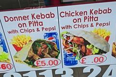 Kebab on Pitta, Leeds, UK (Robby Virus) Tags: leeds england uk unitedkingdom britain greatbritain donner chicken kabab pitta pita chips fries takeaway fast food mediterranian middle eastern