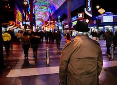 The Observer (johnsinclair8888) Tags: lasvegas downtown hat nohead lights vegas nikon night affinityphoto johndavis d750 nocturnal