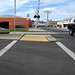 crosswalk across railroad tracks