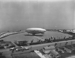 Goodyear blimp, Century of Progress Exposition (UIC Library Digital Collections) Tags: dirigible