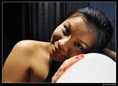 Melody Portrait (alton.tw) Tags: taipei taiwan 台灣 台北 formosa island asia asian altonsimages altonthompson melody people woman female taiwanese aboriginal siraya nocturne nocturnal night noir quiet portrait impliednude smile face model skin hair shoulder 2009
