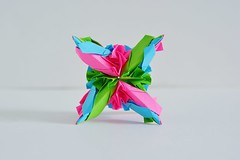 Bithynia Kusudama (Byriah Loper) (Byriah Loper) Tags: origami origamimodular modularorigami modular compound complex byriahloper byriah paperfolding paper polygon polyhedron geometric wireframe woven kusudama