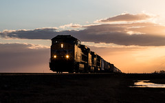 M*A*S*C*H (Jake Branson) Tags: train railroad up union pacific locomotive ge ac4400cw tuscola il illinois sunset glint
