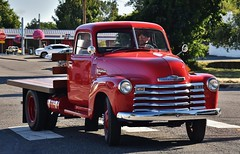 1949 Chevrolet 3800 flatbed truck (Custom_Cab) Tags: 1949 chevrolet chevy 3800 flatbed truck red advance design 1 one ton 1ton oneton