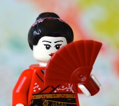 Kimono Girl (linda_lou2) Tags: 118picturesin2018 themeno25 afanorfanshaped odc foreign 24365 365toyproject 365the2018edition 3652018 day24365 24jan18 lego minifigure minifig kimonogirl series4 fan toy