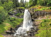 Steinsdal Waterfall (Digidoc2) Tags: waterfall water steinsdalwaterfall trees cliff mountain spray ledge rocks norway landscape scenic