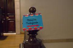 Cartel anunciador de la reunión.