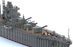 Nisshin main guns and bridge (Thunderflare.) Tags: nisshin japan navy ww2 lego ldd bluerender