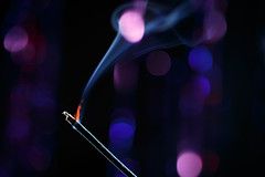 Flame (simonpe86) Tags: bokeh macromondays flame macro smoke monday