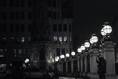 lonely nights (adamtambaro) Tags: nikon3400 nikon nightime night nightshoot england london londonstreets blackandwhite black blackwhite light londontown ldn