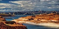 Colorado River/Wahweap Bay (pandt) Tags: coloradoriver wahweapbay glencanyondam river colorado wahweap water mountains sky clouds blue outdoor nature flickr page arizona utah canon eos 7d slr