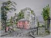 La Maison Rose, Montmartre, Paris (jeff smith 55) Tags: montmartre paris watercolour restaurant france city