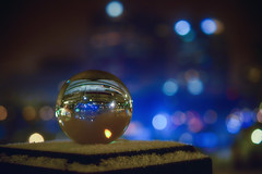 The Lights of Winterlude (flashfix) Tags: february062018 2018inphotos ottawa ontario canada nikond7100 40mm nikon flashfix flashfixphotography bokeh globe glass crystalball reflections winterlude lights downtown nightphotography snow buildings cityscape