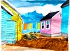 Drying Out (michaeltrinseyart) Tags: painting art michaeltrinsey michaeltrinseyart beach beachhouse towels acrylic pinkhouse