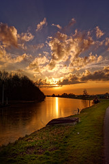 Before I Go I wish You All A Very Sunny Day (Alfred Grupstra) Tags: sunset nature dusk sky water outdoors reflection landscape lake summer scenics cloudsky sun sunrisedawn night sunlight tranquilscene sea river beautyinnature
