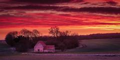 Old Barn (aj_nicolson) Tags: morning tree barn clouds dawn fields frost moody morninglight sunrise tedsky trees