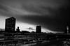 Utrecht, skyline (Hans Westerink) Tags: utrecht nederland nl hanswesterink canon lightroom black white noir blanc silhouet inktpot hgb hgbiv puntenburg moreelsepark moreelsebrug ufo sky clouds