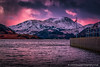 Sunset at Aira Force Pier, Lake District (Splendid What) Tags: 2018 airaforce cumbria februaray fells lakedistrict mountains pier pink sky snow stream sunset ullswater water