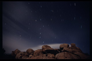 Ursa Major Rotating over a Field of Boulders