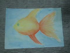 fish (Lucy-in-the-sky-with-diamonds) Tags: fish pencil water color painting drawing art