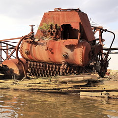 Iron Weed (95wombat) Tags: old abandoned rotted decayed derelict rusty decrepit marinegraveyard arthurkill statenisland newyork