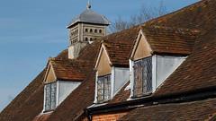 Baddesley Clinton: Dovecote (Nick:Wood) Tags: baddesleyclinton nationaltrust warwickshire dovecote rooftop roof windows tiles