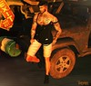 Waste Time (StyleTrendSL) Tags: xenials tanktop the hipster men event belleza jake signature riot shorts slink adam posesion poses male pose bento