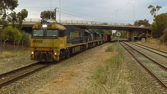 5AM5 at North Adelaide train station NR59, 8226, 8220 (wesleypatsons) Tags: 5am5 nr59 8226 8220 intermodel northadelaide northadelaiderailwaystation southaustralia adelaide pacificnational 2018 trainspotting rail nrclass 82class freight