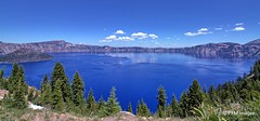 Crater Lake (pandt) Tags: craterlake rimvillage oregon crater lake blue water sky clouds trees pine scenic landscape waterscape outdoor view nature wizardisland canon eos 7d slr