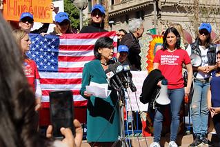Judy Chu Speaks at the Rally