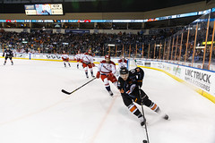 "Kansas City Mavericks vs. Allen Americans, February 24, 2018, Silverstein Eye Centers Arena, Independence, Missouri.  Photo: © John Howe / Howe Creative Photography, all rights reserved 2018 • <a style=""font-size:0.8em;"" href=""http://www.flickr.com/photos/134016632@N02/40458458252/"" target=""_blank"">View on Flickr</a>"