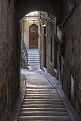 Historic buildings in Perugia (clodio61) Tags: europe italy perugia umbria arch architecture building city cityscape color door exterior historic morning old outdoor palace photography step street urban window