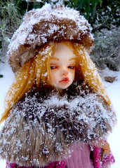 Dalhia under the snow :) (Celine_gilthonniel) Tags: neige snow bjd dimlaia dollinmind
