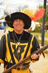 A smiling guard (radargeek) Tags: medievalfair normanmedievalfaire2017 2017 april norman reavespark costume guard sca