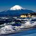 Mt. Fuji view from the Shichirigahama beach in Kamakura
