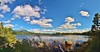 Kidney Pond (RWGrennan) Tags: baxter state park maine me landscape outdoors lake kidney pond wild clouds water mountains wilderness panorama pano panoramic travel nature nikon d610 hike hiking rwgrennan rgrennan ryan grennan mount katahdin sky trees blue open space united states usa america
