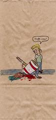 TOUGH WEEK (CrazyUncleJoe-MoPho) Tags: sketch snackbag lunchbagart