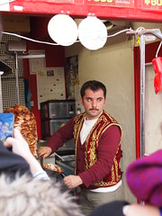that handsome Turkish guy sell Kebab in Kyoto (suyo wong) Tags: handsome handsomeguy turkish kebab