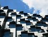 People live here (bobarcpics) Tags: monashuniversity hallsofresidence windows angular sunhoods facetted concretepanels