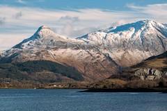 The Pap of Glencoe and Loch Leven (emperor1959 www.derekbeattieimages.com) Tags: papofgelncoe sgorrnaciche glencoe lochleven mountain scotland winter snow ballachulish loch canon5d3 scottishlandscapephotography