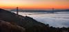 Red Dawn (Joseph Greco) Tags: sanfrancisco skyline goldengatebridge fog city dawn sunrise marinheadlands