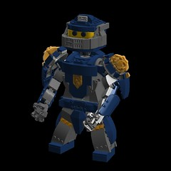 Nexo Knight Max Fig Clay (LDD Building Instructions) by  ArcadiumSol (Repubrick.com) Tags: repubrickcom buildinginstructions lego ldd nexo knight nexoknights clay fig character