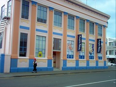 Napier. New Zealand. A city of colourful Art Deco buildings. All built in the 1930s after the city centre was destroyed in the 1931 earthquake. (denisbin) Tags: deco newzealand artdeco napier