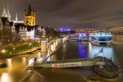 Kölner Altstadt Hochwassers Januar 2018