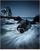 Myrland (nandOOnline) Tags: fjord fjorden fotoreis lofoten noorwegen sneeuw winter golven myrland strand branding rotsen zee