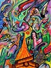 Psychedelic Fire (MattCrux) Tags: psychedelic lsdtrip acid abstract trippy colorful rainbow lsd strange weird drug drugs weed high trip love acrylic painting acrylicpainting traditional canvas paint painted artist drawing illustration art arts expressive different beautiful artsy creativity creative