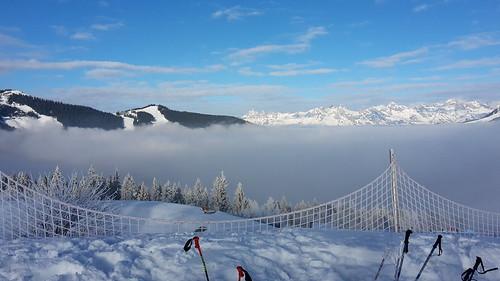 Erster Schitag - Sonne und Nebel