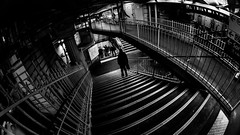 MC Peleng 8 mm f/ 3.5 A ( МС Пеленг 3,5/8А ) - DSCF5787 (::nicolas ferrand simonnot::) Tags: mc peleng 8 mm f 35 a paris | 2017 fisheye darkness underground noise night light street streetphotography bw black white monochrome vintage manual prime fixed length classic lens ruelle personnes route bâtiment metro subway gate station lignes train plafond russian architecture fenêtre