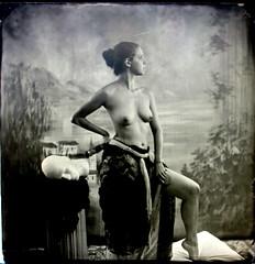 P1091121 (Bailey-Denton Photography) Tags: boudoir boudoirphotography baileydentonphoto bailydentonphotography tintype wetplate wetplatephotography gardengrove sexy nude burlesque largeformat blackandwhite
